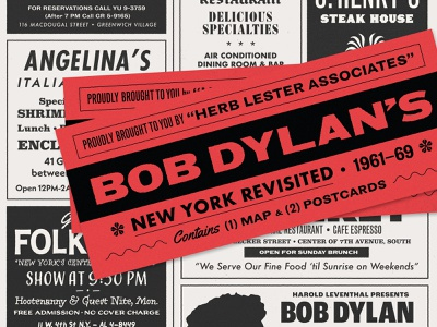 Map Cover Package newsprint newspaper vintage map music dylan bob dylan design illustration type texture typography