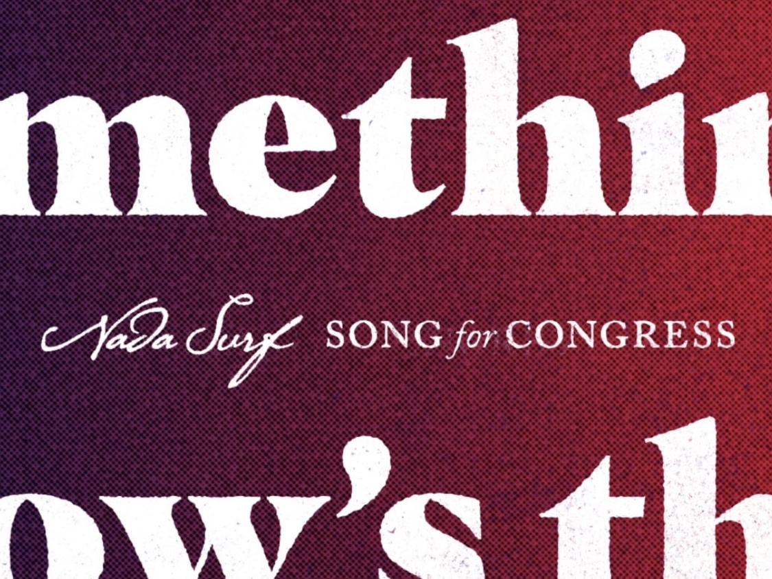 Song for Congress No. 2 masqualero graphic design kindness patriotism america nada surf caslon design typography halftone illustration