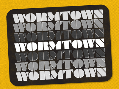 Wormtown! dribbbleweeklywarmup wormtown worcester show and tell fun experiment weekly warm-up