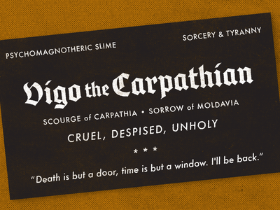 Vigo the Carpathian experimental typography halftone texture typeface type ghostbusters vigo the carpathian prompt experiment play weekly warm-up dribbbleweeklywarmup