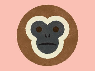 Gibbon! primate community grow learn gibbon animal play fun weekly warm-up dribbbleweeklywarmup