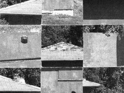 The Abandoned Boathouse paper analog abandoned nine squares grid design collage halftone