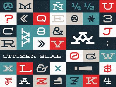 Citizen Slab Regular typography font free