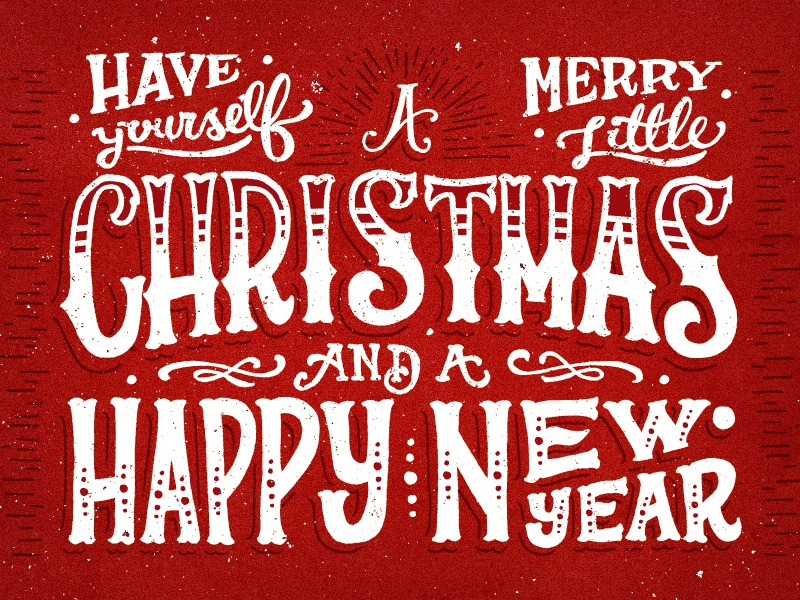 merry christmas by joel felix dribbble - Merry Merry Merry Christmas