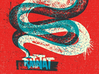 Ratatat Poster Color/lettering update snake poster ratatat