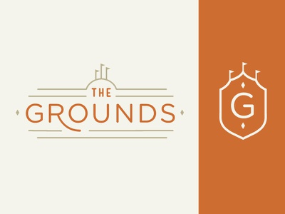 The Grounds Logo monogram symbol seal logo