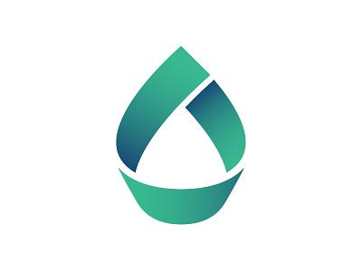 Drop logo ribbon energy drop logo