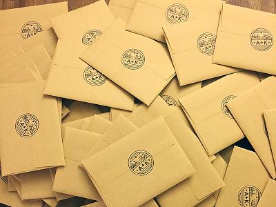 Seal envelopes wedding stamp seal