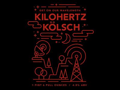 The Night Label illustration label beer