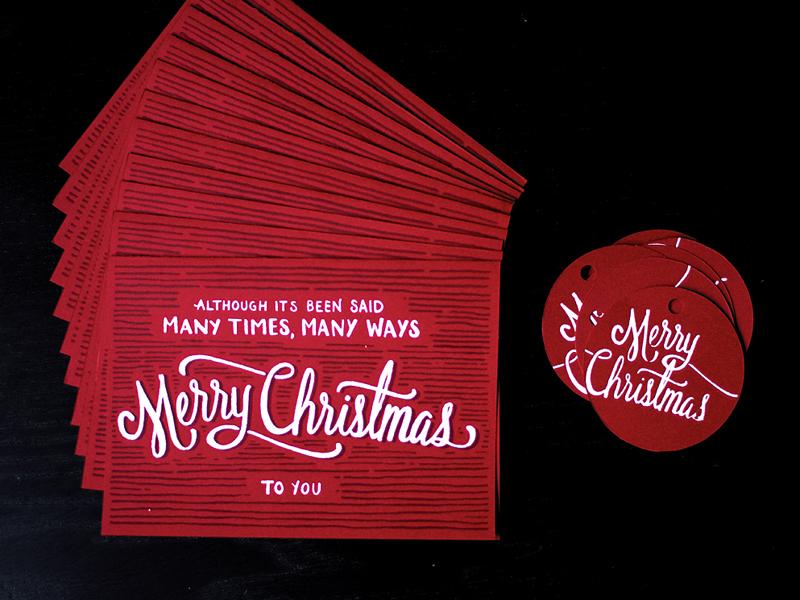 Christmas Cards lettering script