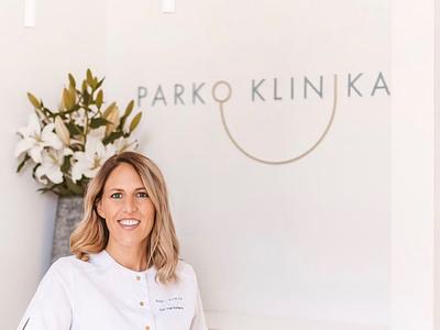 Parko Klinika branding lithuania mark identity minimal logotype brand design branding logo dribbble