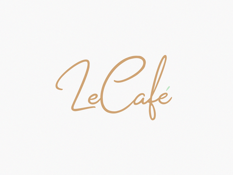 Le Café accent identity creative font awesome lithuania vilnius ai dribbble font typography mark logotype brand design branding logo
