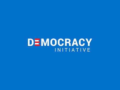 Democracy Initiative identity dribbble minimal logotype brand design mark branding logo
