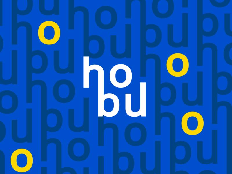 HoBu Pattern blue and yellow yellow blue pattern design icon pattern stationary vilnius identity housing dribbble minimal ai logotype brand design mark branding logo