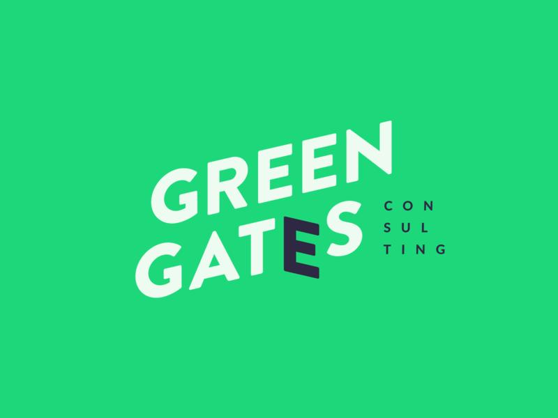 Green Gates vilnius minimal identity dribbble logotype brand design mark branding logo