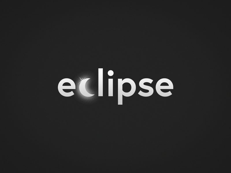 Eclipse wordplay typography stationary illustration vilnius vector minimal identity dribbble logotype brand design mark branding logo