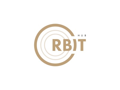 Orbit Hub coworking space coworking hub challenge identity dribbble brand logotype design branding mark logo