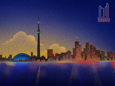 Toronto Illustration rogers centre cn tower city skyline illustration design illustration art illustrations canada toronto cityscape city illustration illustration dribbble design