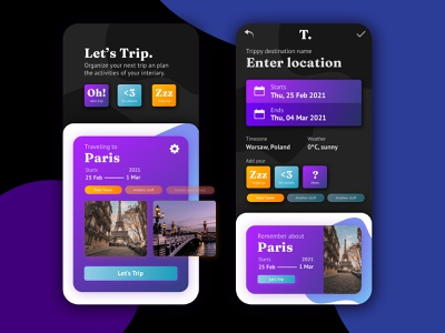 Mobile UI · 4 sliders concept design travel interface design uiux ui mobile mobile ui gradients contrast mobile app abstract