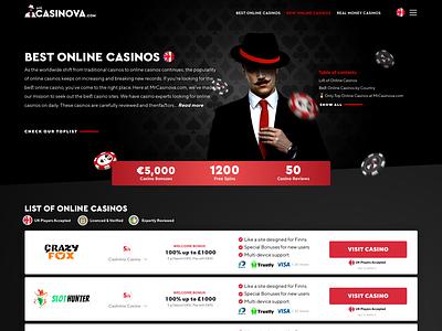 Mr.Casinova Casino Affilate Re-Design casino affiliate gambling design gambling affiliate marketing affiliate casino design casino online casino games casino