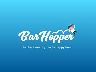 Bar Hopper App Logo illustrator logo bar hopping logo bar hopper bar logo logo