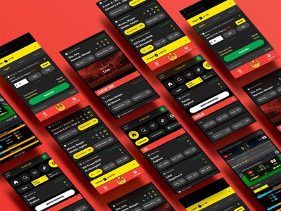 New sportsbook product design for Rizk.com casino sports icon design sports ui design casino photo manipulation ui design ui design sportsbook rizk sportsbook