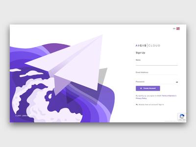 Sign Up Page signupform signup purple form interface responsive web landing ux illusrtation design illustration cloud app