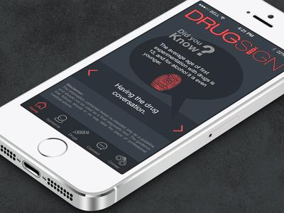 DrugSign App Home Screen