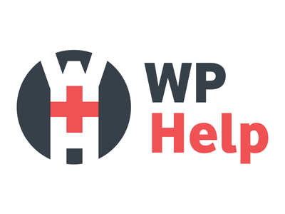 WP Help Logo logo red charcoal wordpress help cross