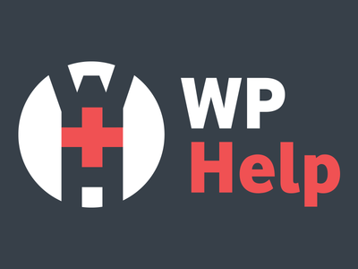 WP Help Logo - Dark background logo red charcoal wordpress help cross