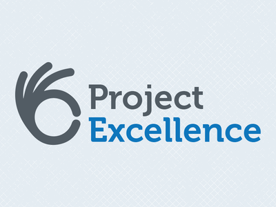 Project Excellence Logo excellence logo hand charcoal blue university