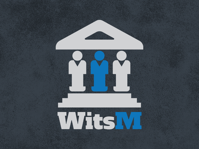 Wits M Logo logo blue grey app icon university
