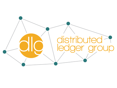 DlG - Light Version logo orange teal circle model distributed web molecule