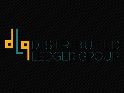 DLG Logo version 2 logo orange teal square model distributed web molecule