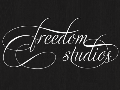 Freedom Studios - Decorative Typography typography ligatures cursive type logo