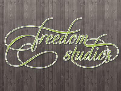 Freedom Studios - Typography Wallpaper typography ligatures cursive type logo stitched leather wood