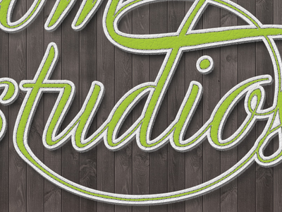 Freedom Studios Typography Wallpaper Detail typography ligatures cursive type logo stitched leather wood
