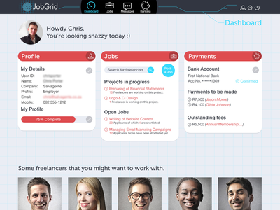 JobGrid Employer Dashboard