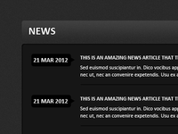 Clean News Section