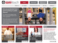 Sani Touch Homepage