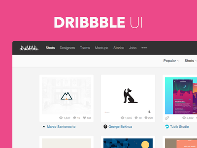 Freebie Sketch: Dribbble UI template free download photoshop flat clean ui freebie sketch