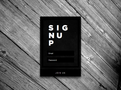 Sign up Form - Concept