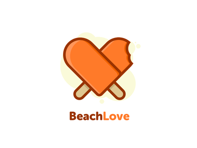 Beach Love / Logo Concept icon android ios love sea beach logo
