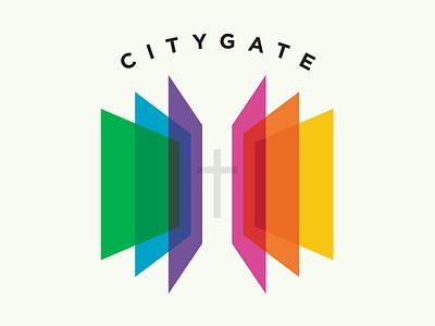 Citygate Logo Concept logomark icon typography hope church shelter homeless ministry service gate city atlanta