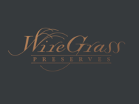 Wiregrass Preserves Logo woods southern homes wire typography logo community real estate grass placemaking