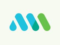 Meet At Logomark identity brand font design at meet network event typography type atlanta
