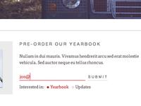 Yearbook Pre Order