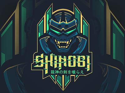 Cyberpunk Shinobi Mascot futuristic warrior ninja cyberpunk illustrator illustration mascot shinobi gaming esport