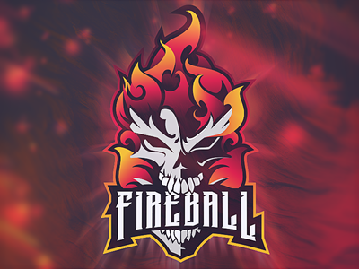 Flaming Skull Mascot