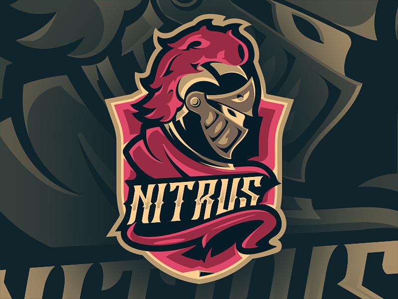 Nitrus eSport Mascot illustration mascot esport warrior medieval hero cape noble gold knight